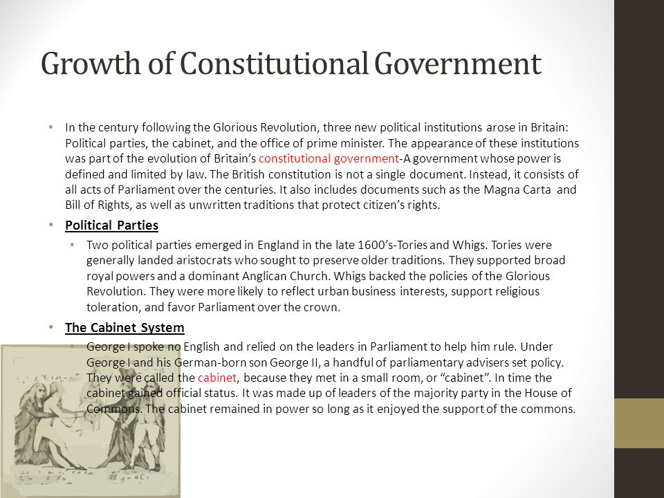 Growth of Constitutional Government