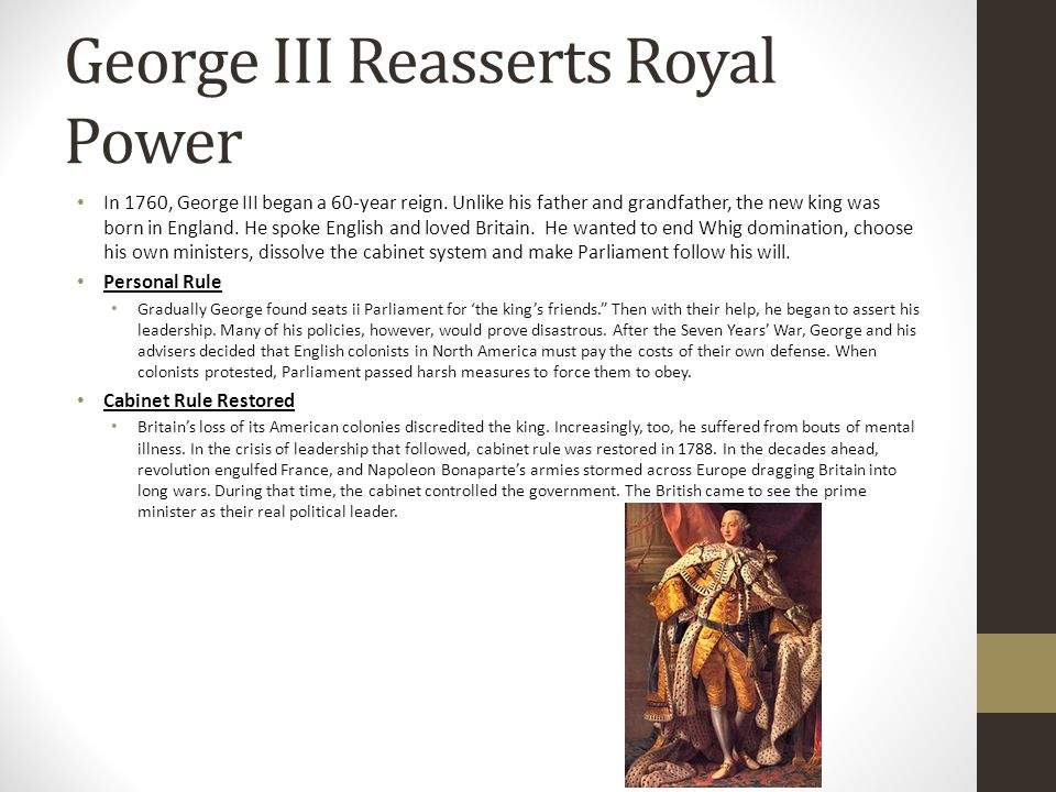George III Reasserts Royal Power