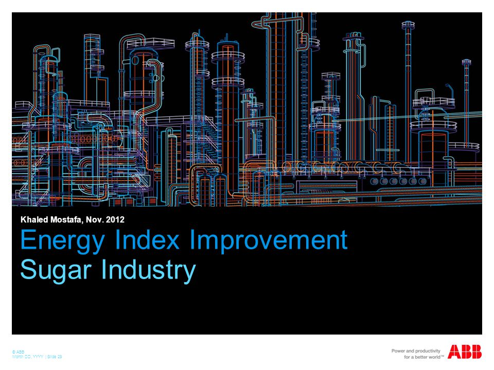 Energy Index Improvement Sugar Industry