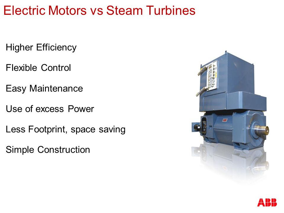 Electric Motors vs Steam Turbines
