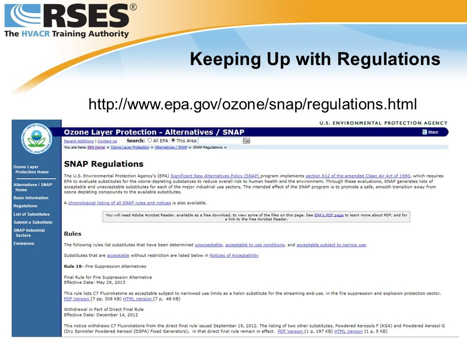 Keeping Up with Regulations