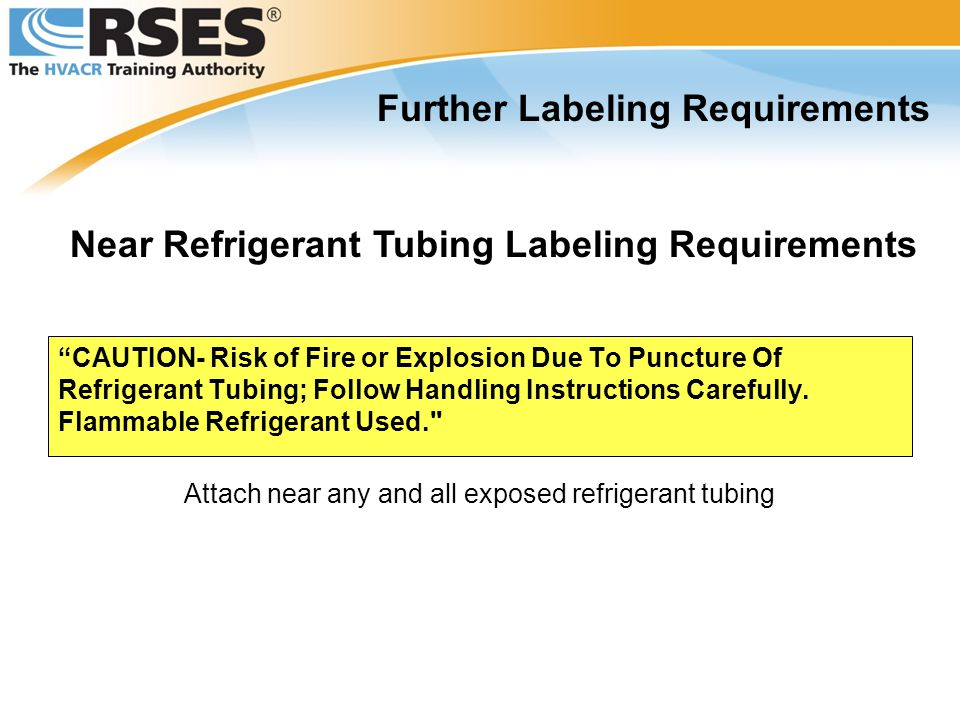 Further Labeling Requirements