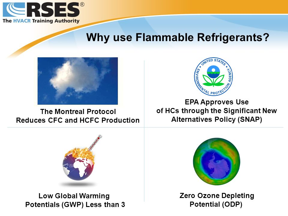 Why use Flammable Refrigerants