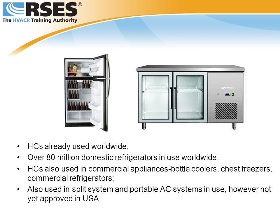 HCs already used worldwide;