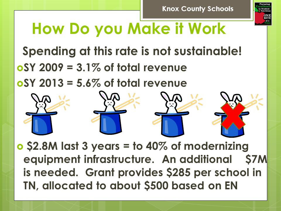 How Do you Make it Work SY 2009 = 3.1% of total revenue
