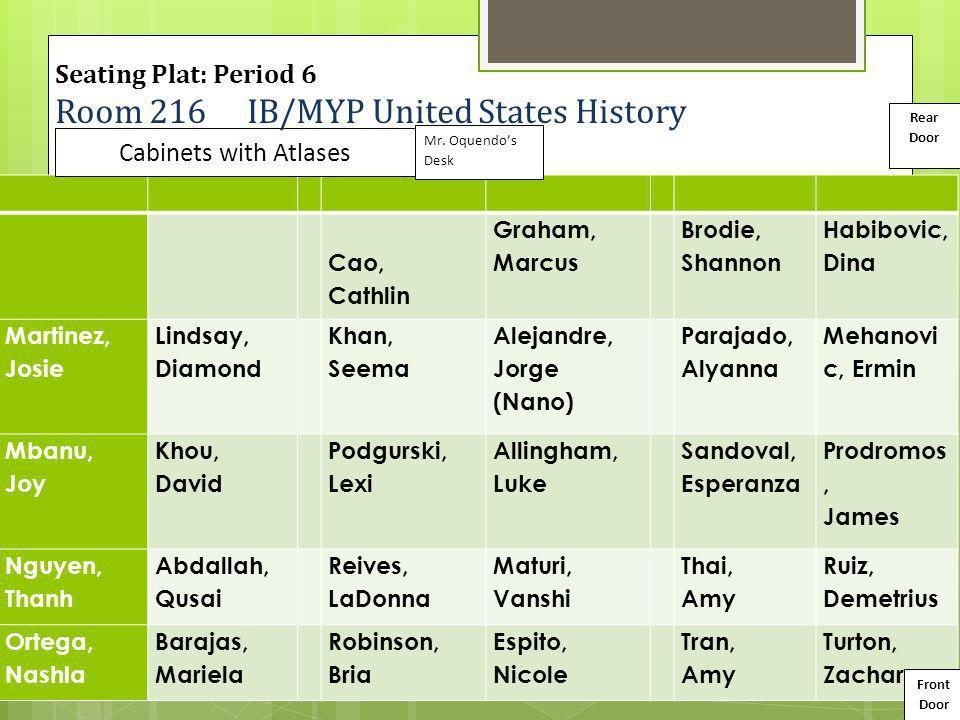 Room 216 IB/MYP United States History