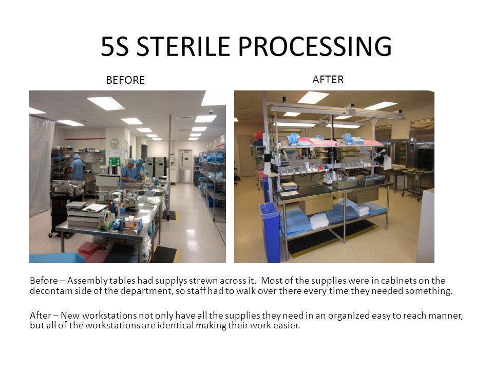 5S STERILE PROCESSING BEFORE AFTER
