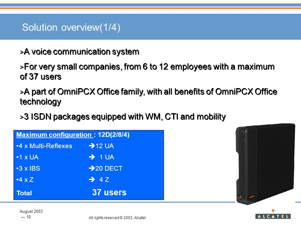 Solution overview(1/4) A voice communication system