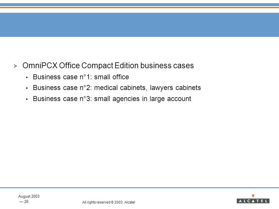 OmniPCX Office Compact Edition business cases