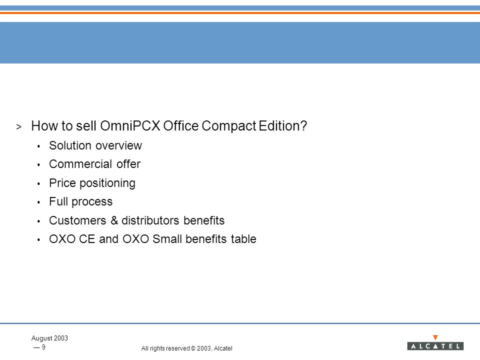 How to sell OmniPCX Office Compact Edition