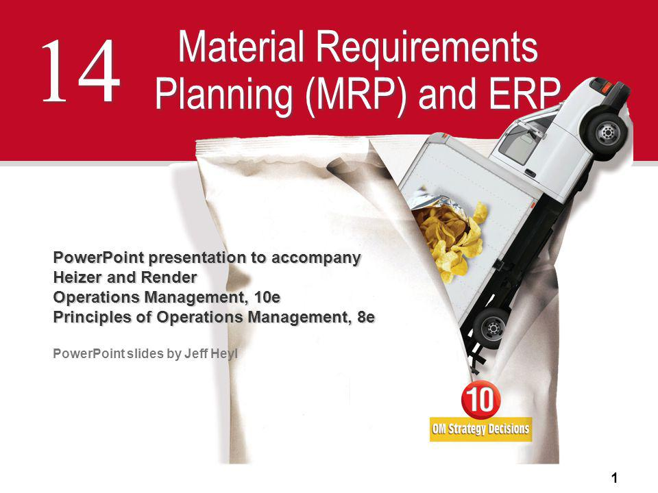 Material Requirements Planning (MRP) and ERP