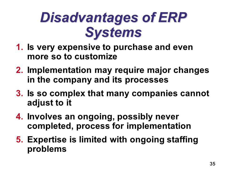 limitations of erp Advantages, limitations and solutions in the use of erp systems (enterprise resource planning) – a case study in the hospitality industry  enterprise resource planning systems (erp) have.