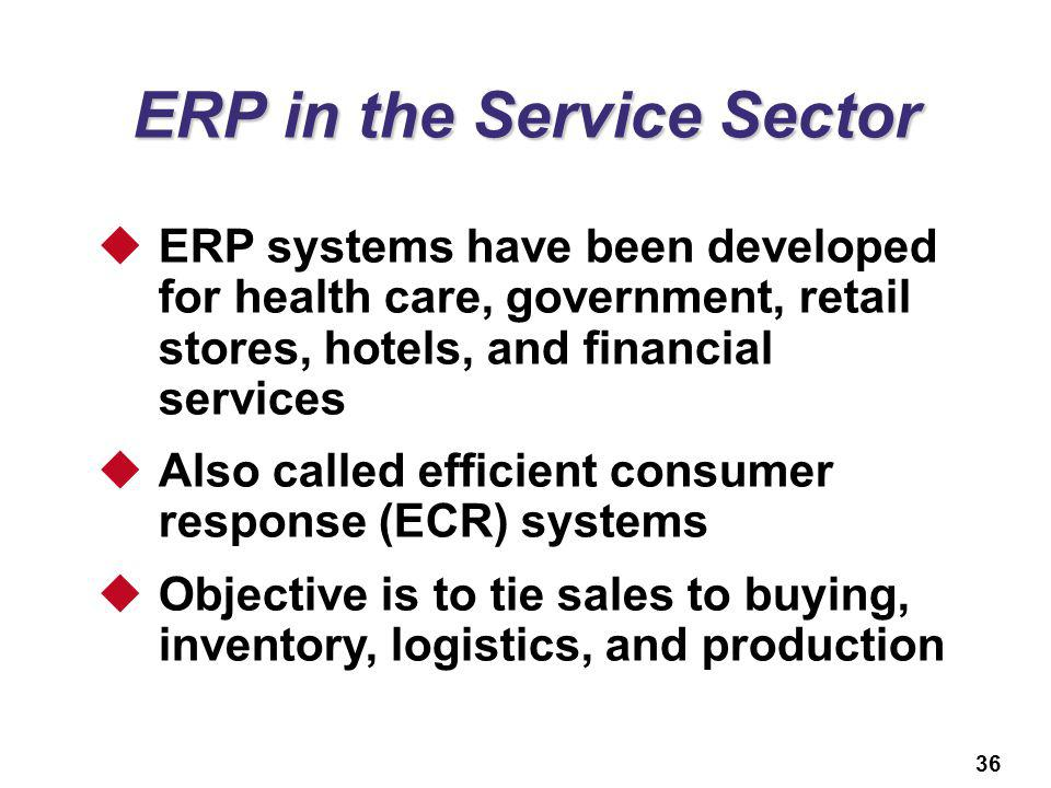 ERP in the Service Sector