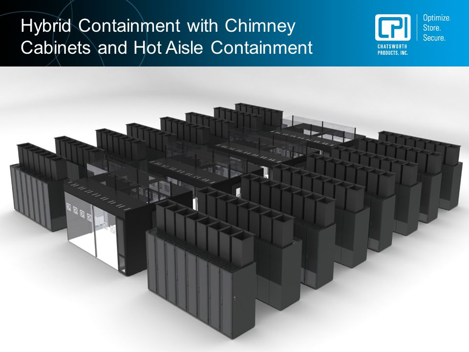 Hybrid Containment with Chimney Cabinets and Hot Aisle Containment