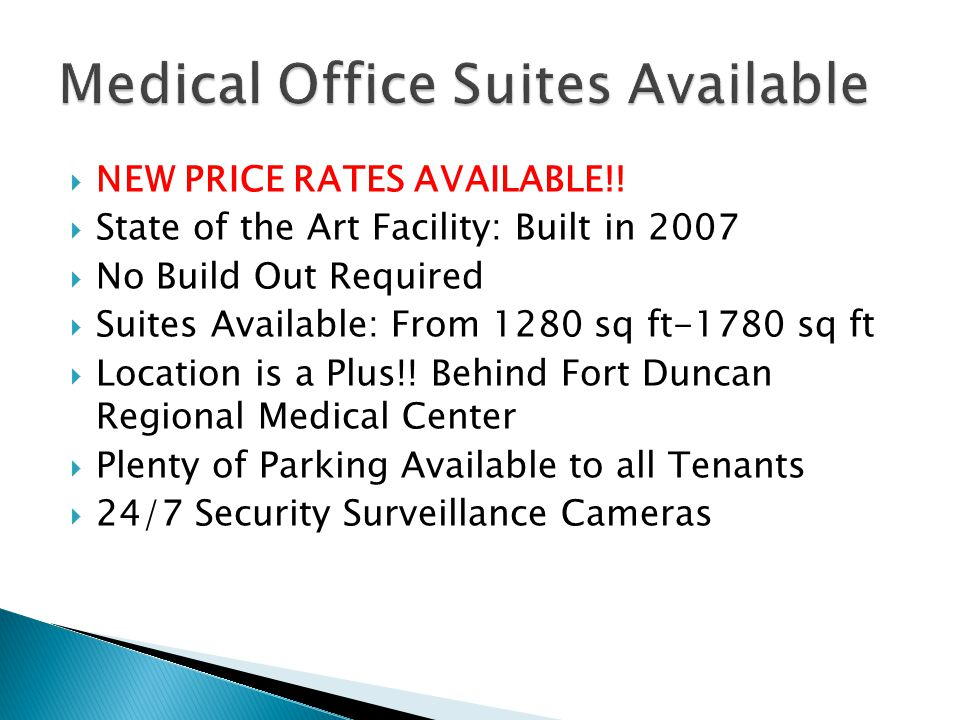 Medical Office Suites Available