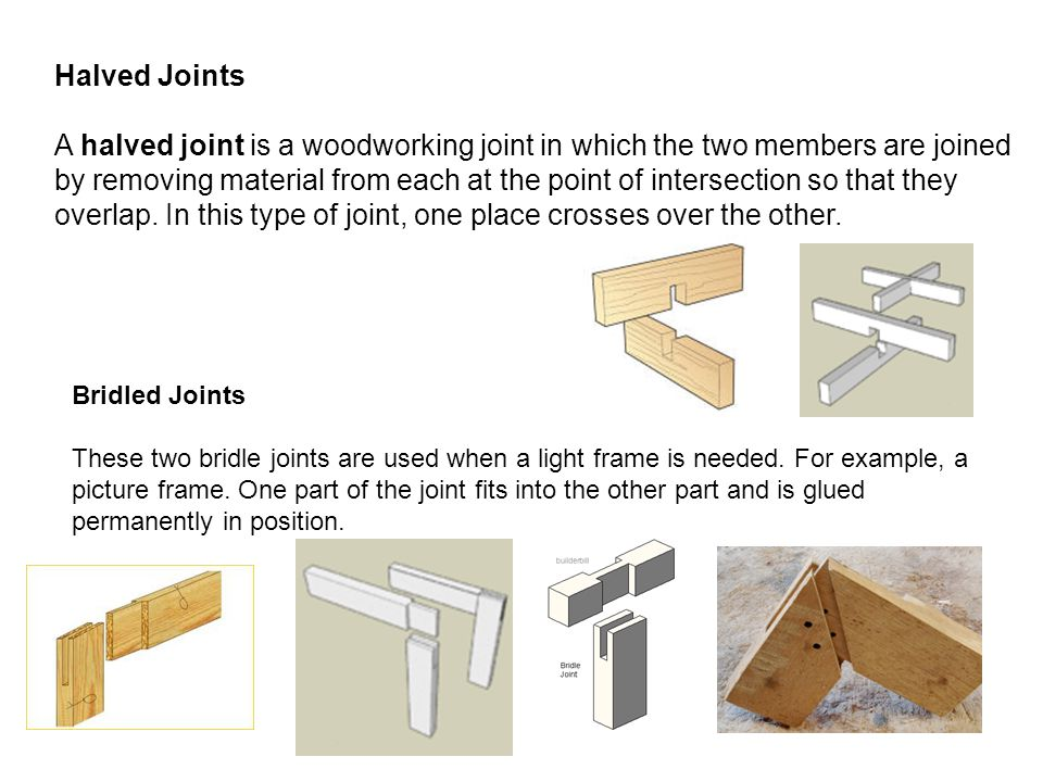Halved Joints
