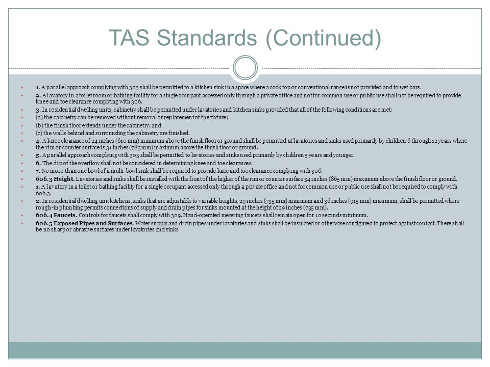 TAS Standards (Continued)