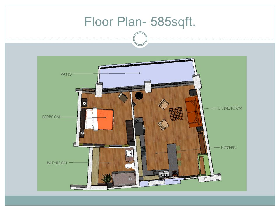 Floor Plan- 585sqft.