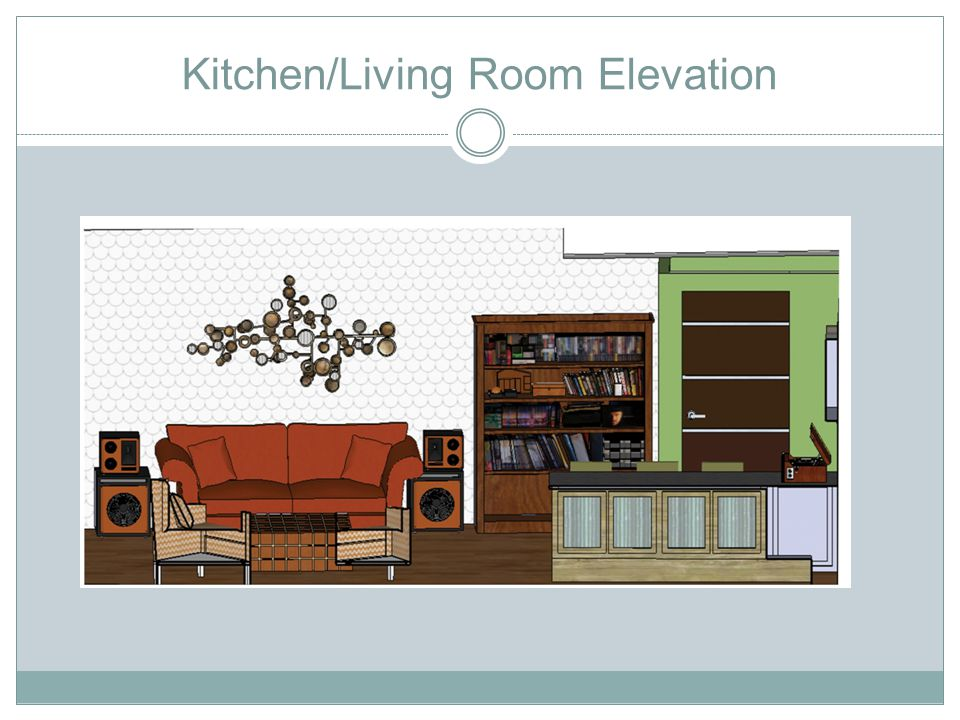 Kitchen/Living Room Elevation