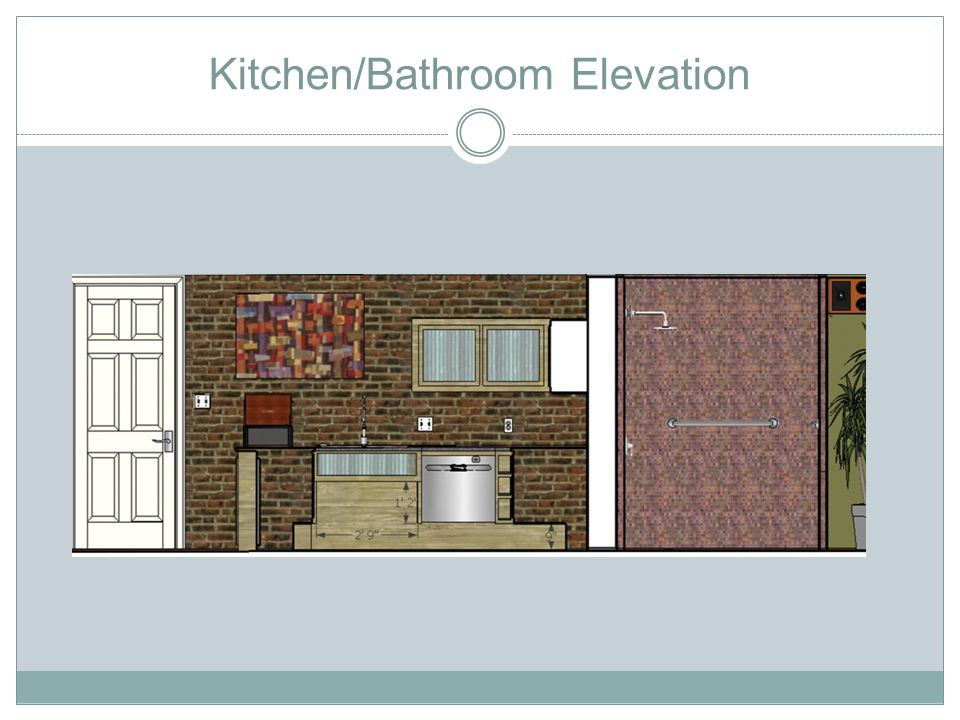 Kitchen/Bathroom Elevation