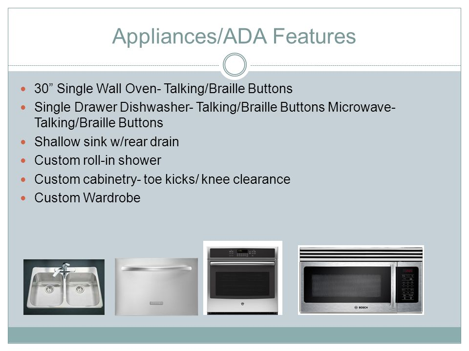 Appliances/ADA Features