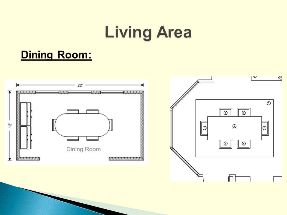 Living Area Dining Room: