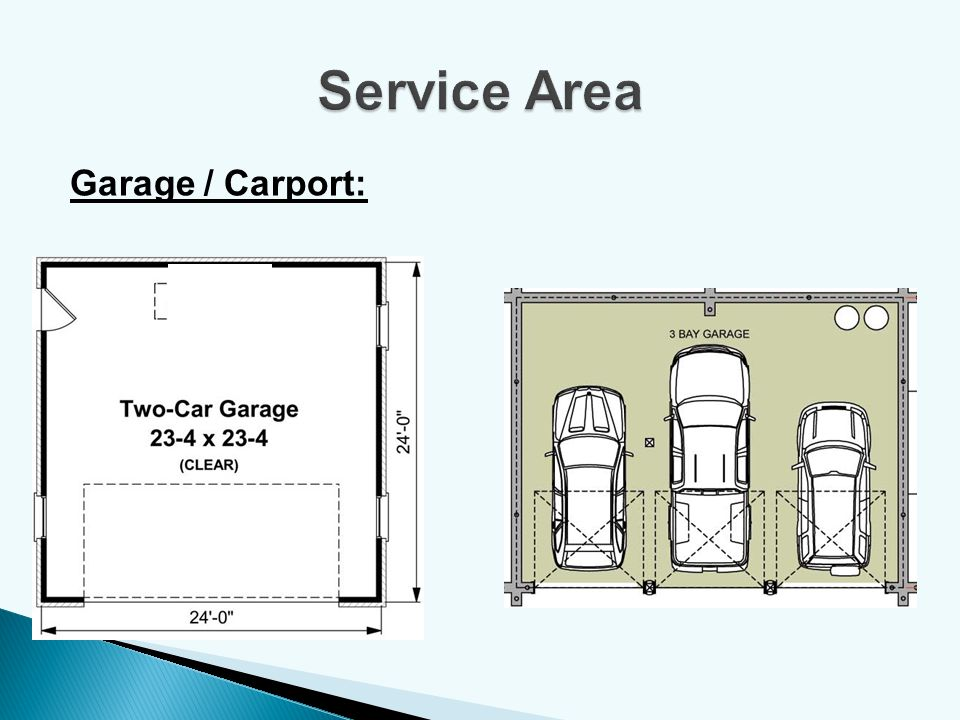 Service Area Garage / Carport: