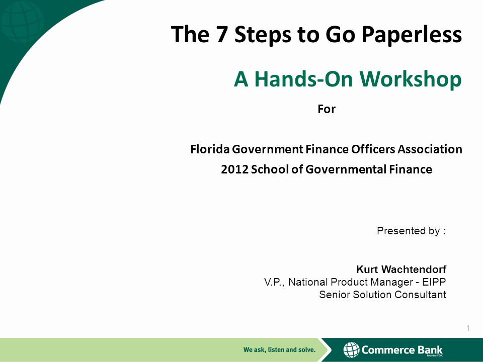 The 7 Steps to Go Paperless