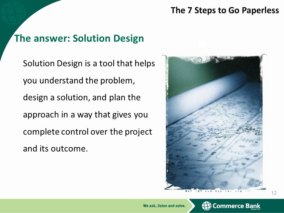 The answer: Solution Design