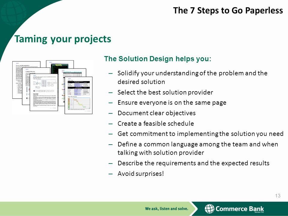Taming your projects The 7 Steps to Go Paperless