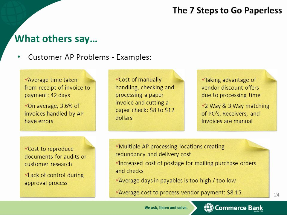 What others say… The 7 Steps to Go Paperless