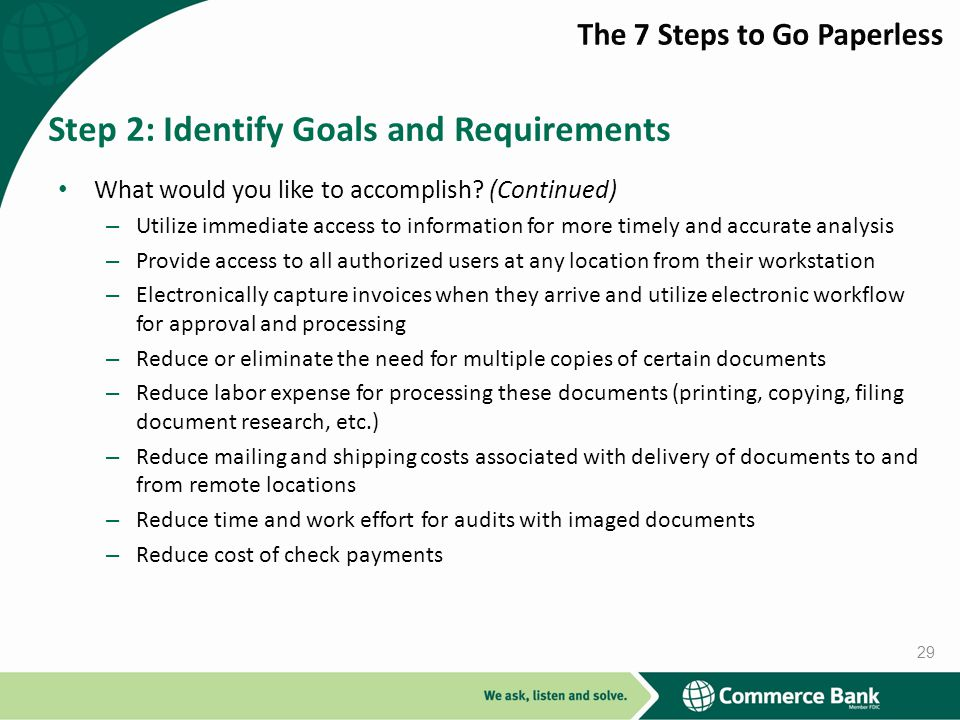 Step 2: Identify Goals and Requirements