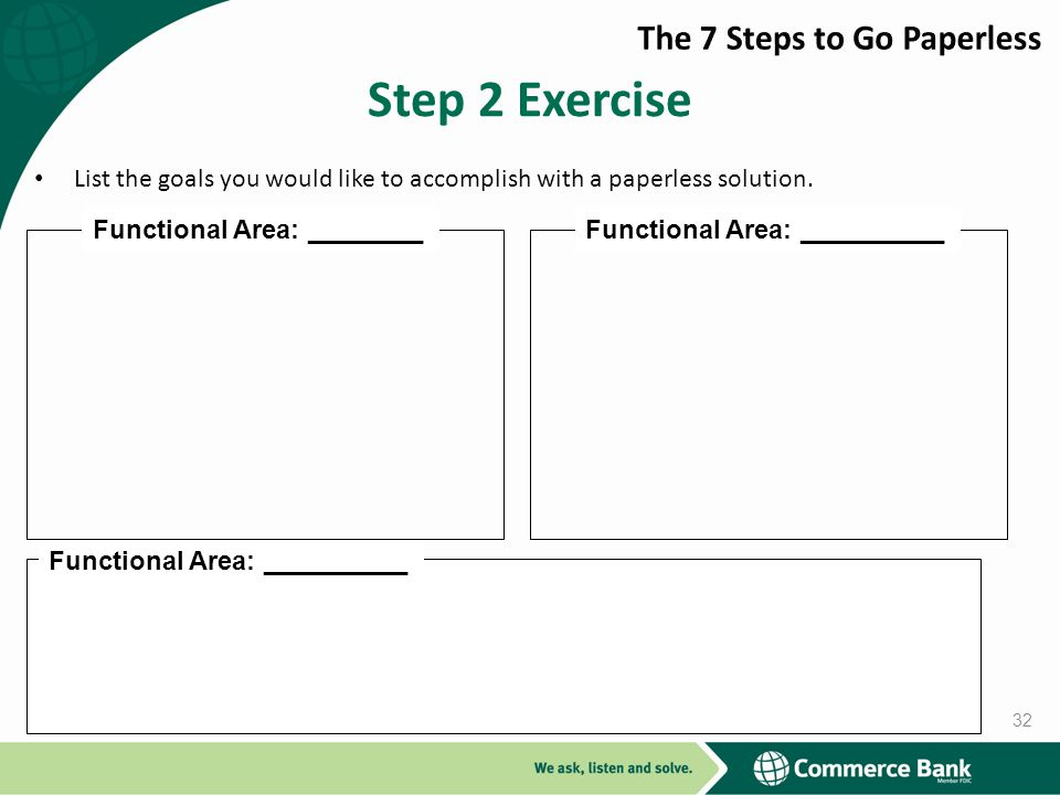 Step 2 Exercise The 7 Steps to Go Paperless