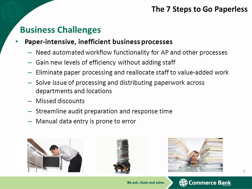 Business Challenges The 7 Steps to Go Paperless