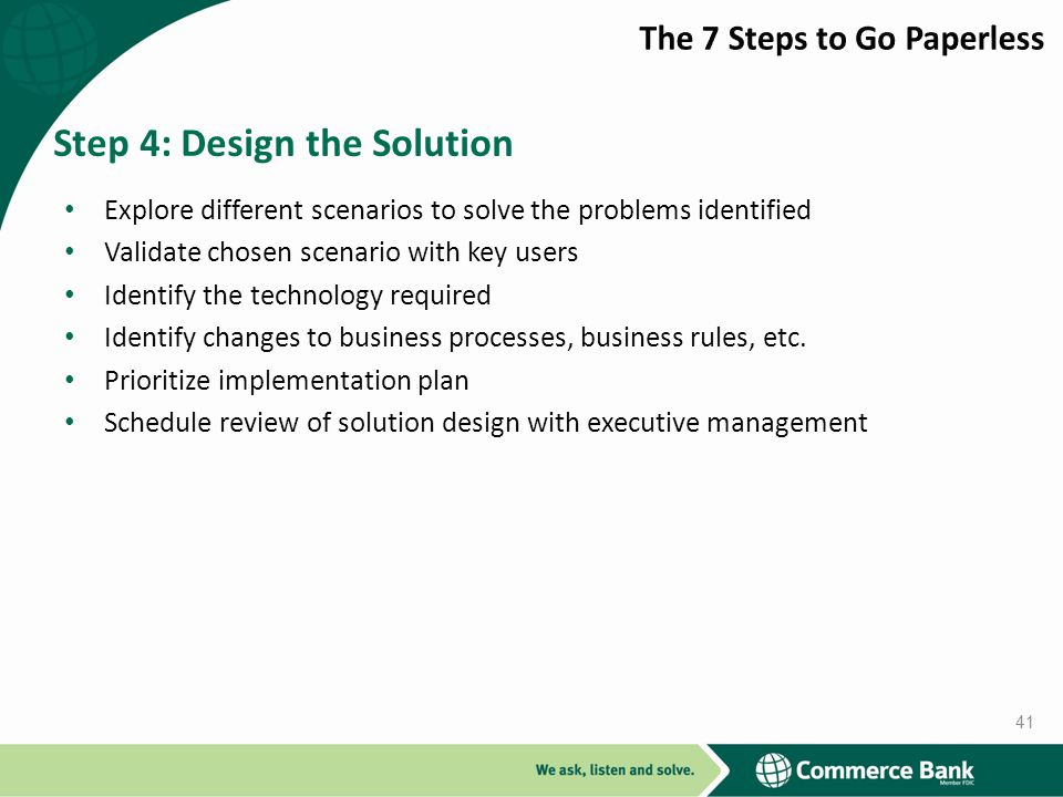 Step 4: Design the Solution