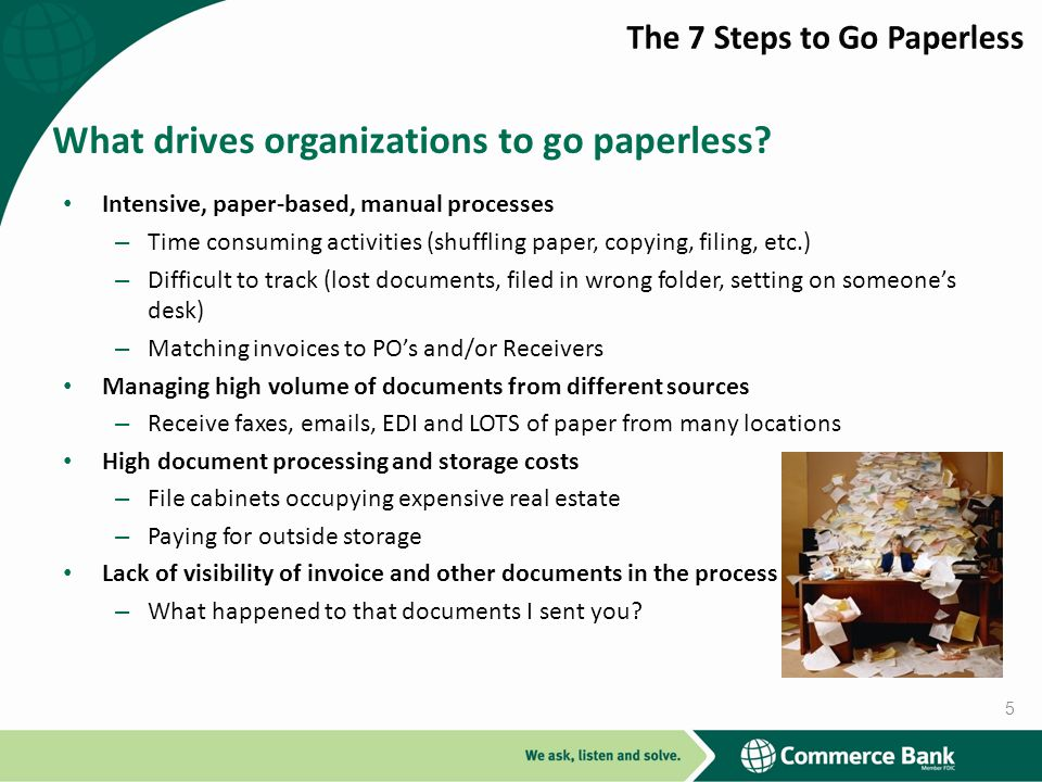 What drives organizations to go paperless