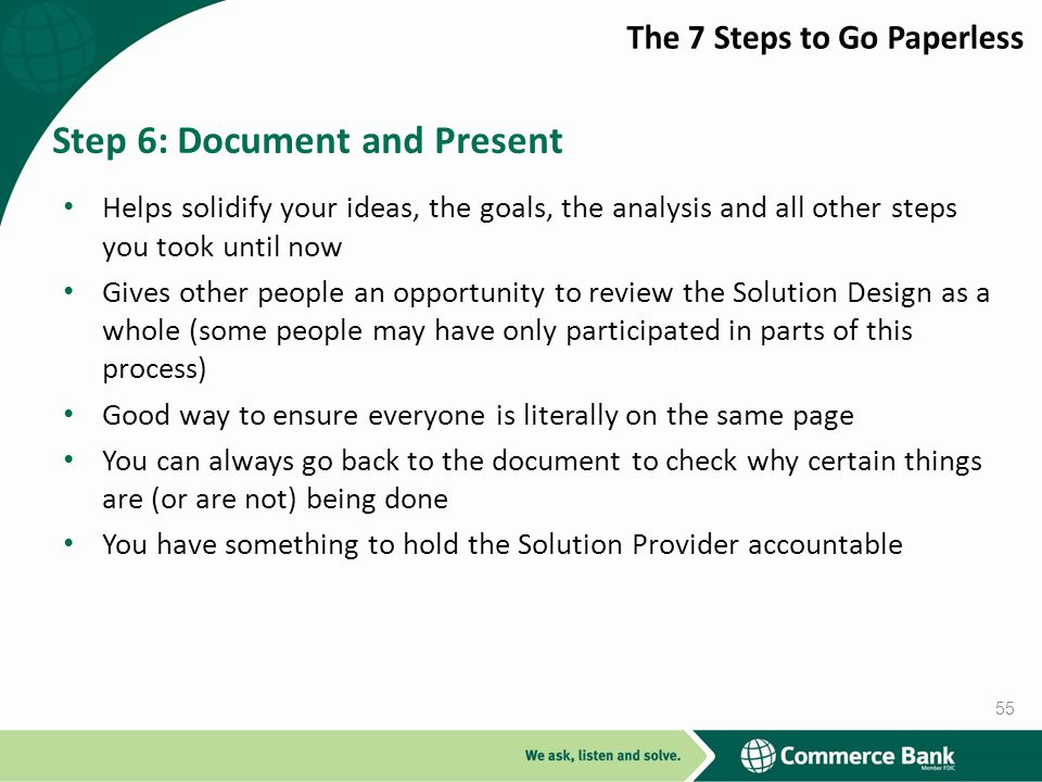 Step 6: Document and Present
