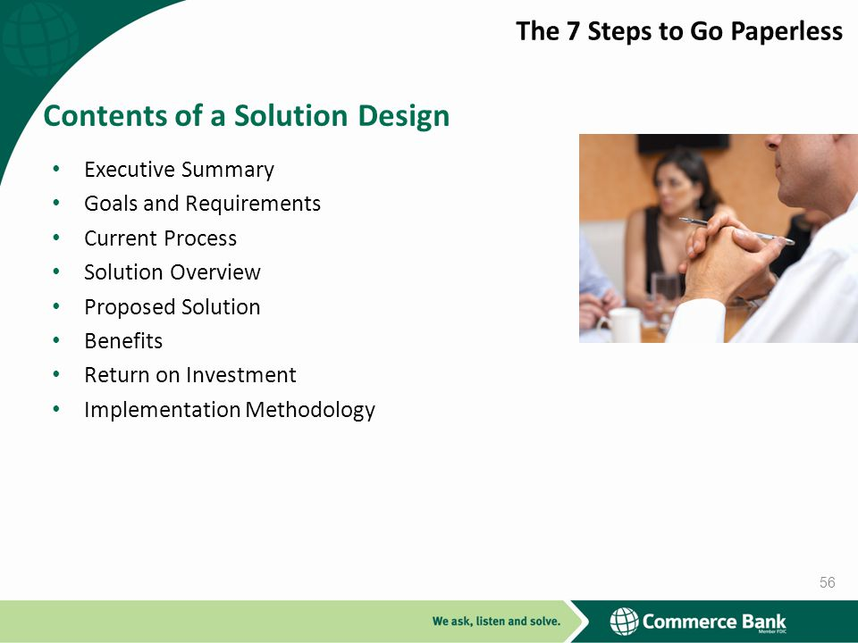 Contents of a Solution Design