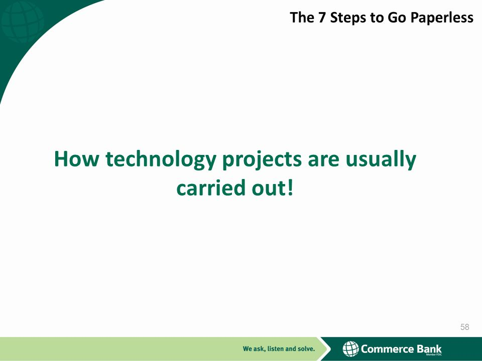 How technology projects are usually carried out!