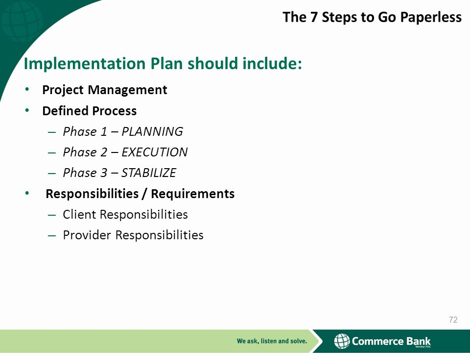Implementation Plan should include: