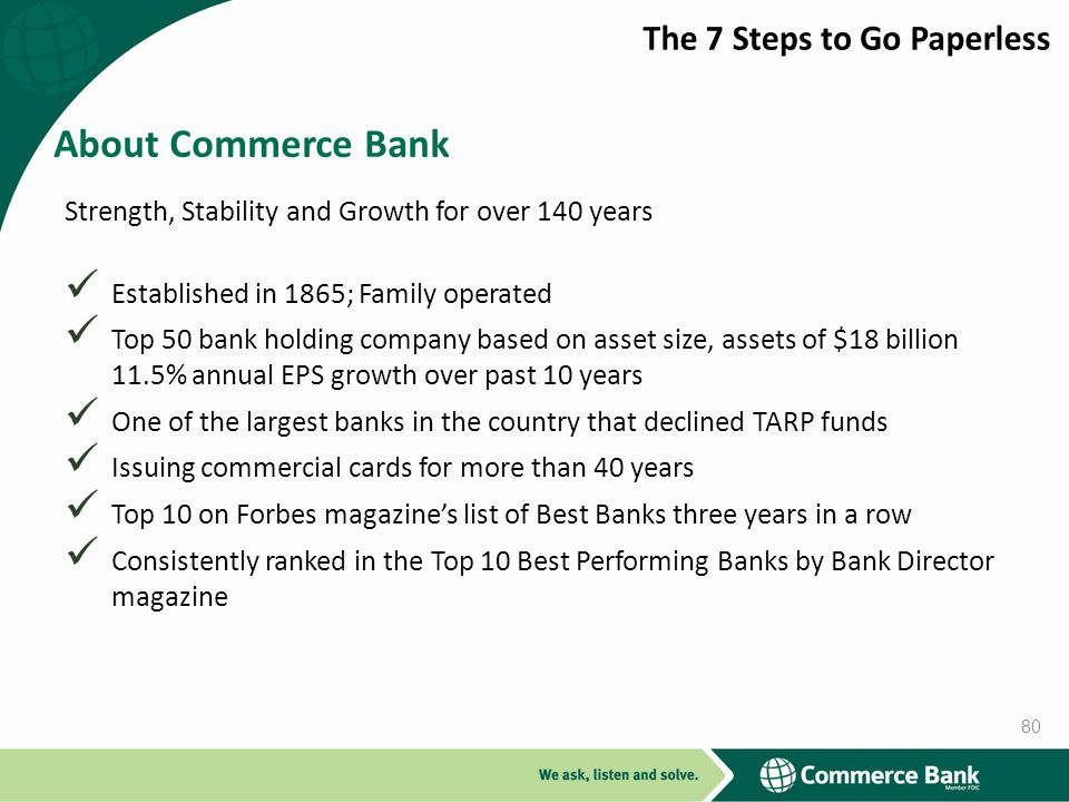 About Commerce Bank The 7 Steps to Go Paperless