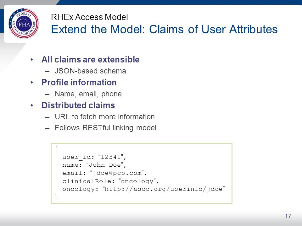 RHEx Access Model Extend the Model: Extending Claims for Health Care