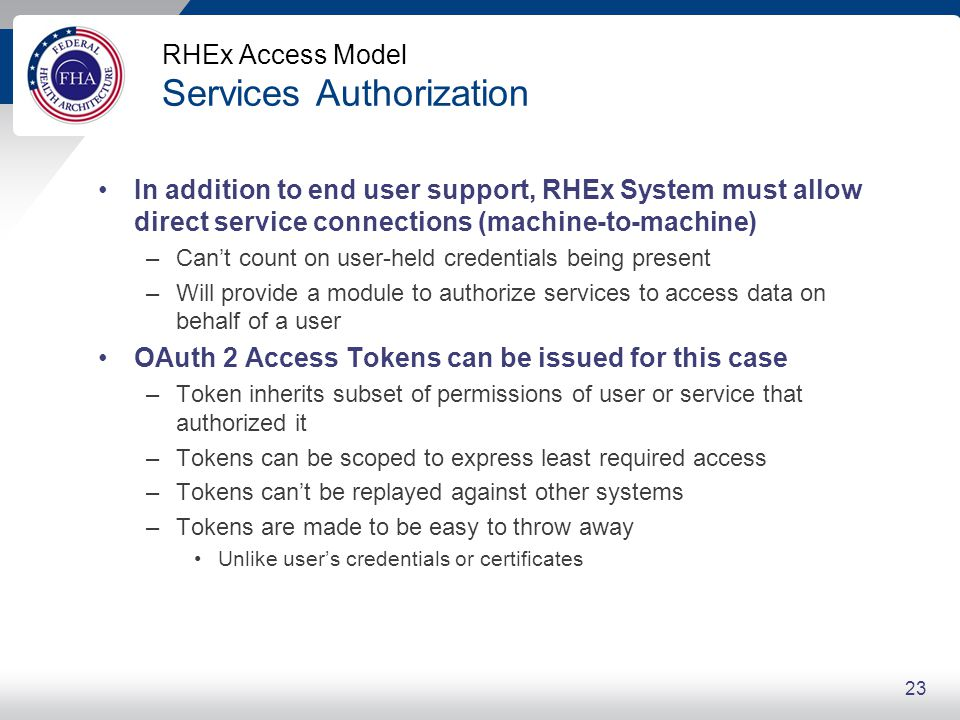 RHEx and NIST Levels of Assurance (LoA)