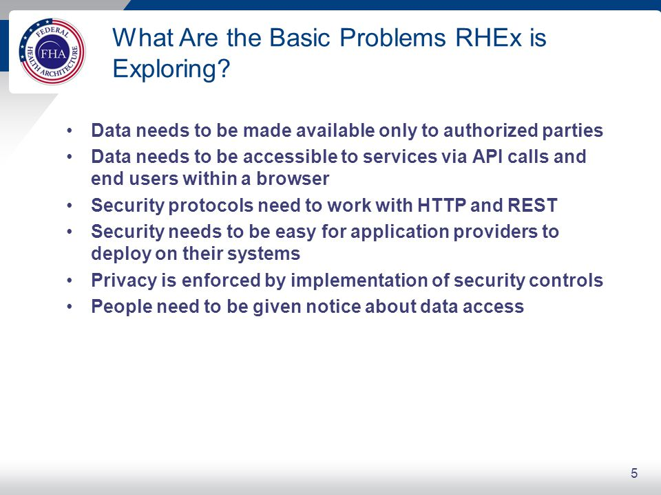 RHEx Security Take-away Points
