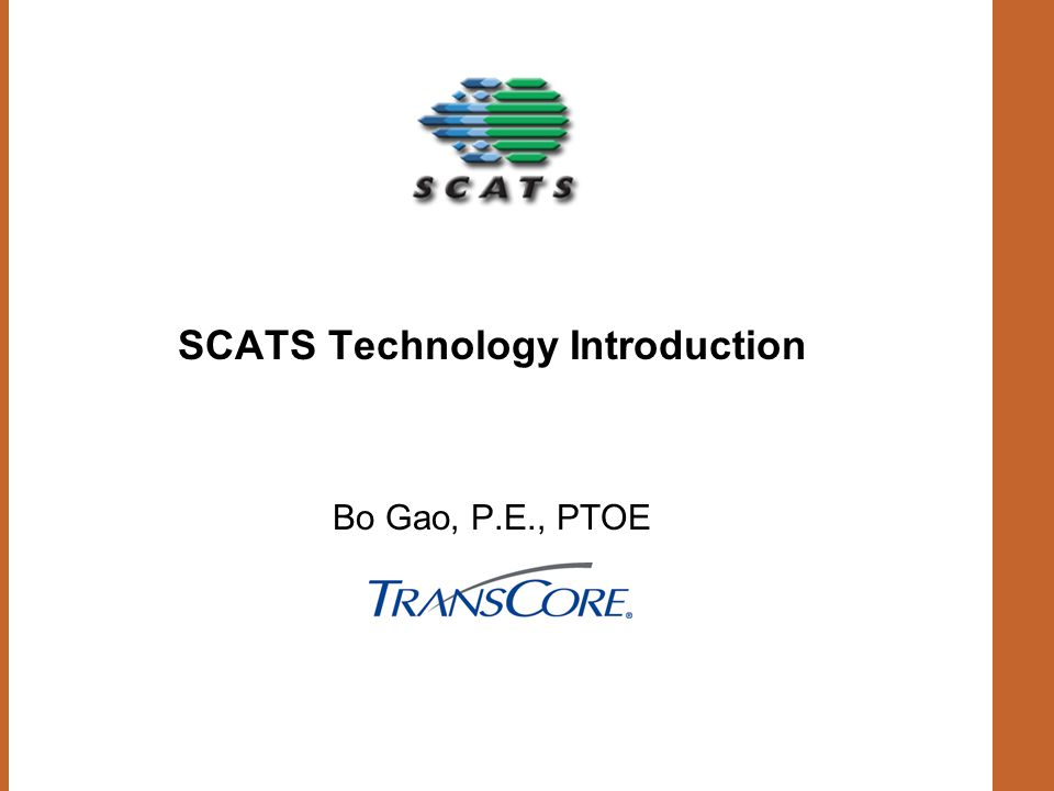 SCATS Technology Introduction