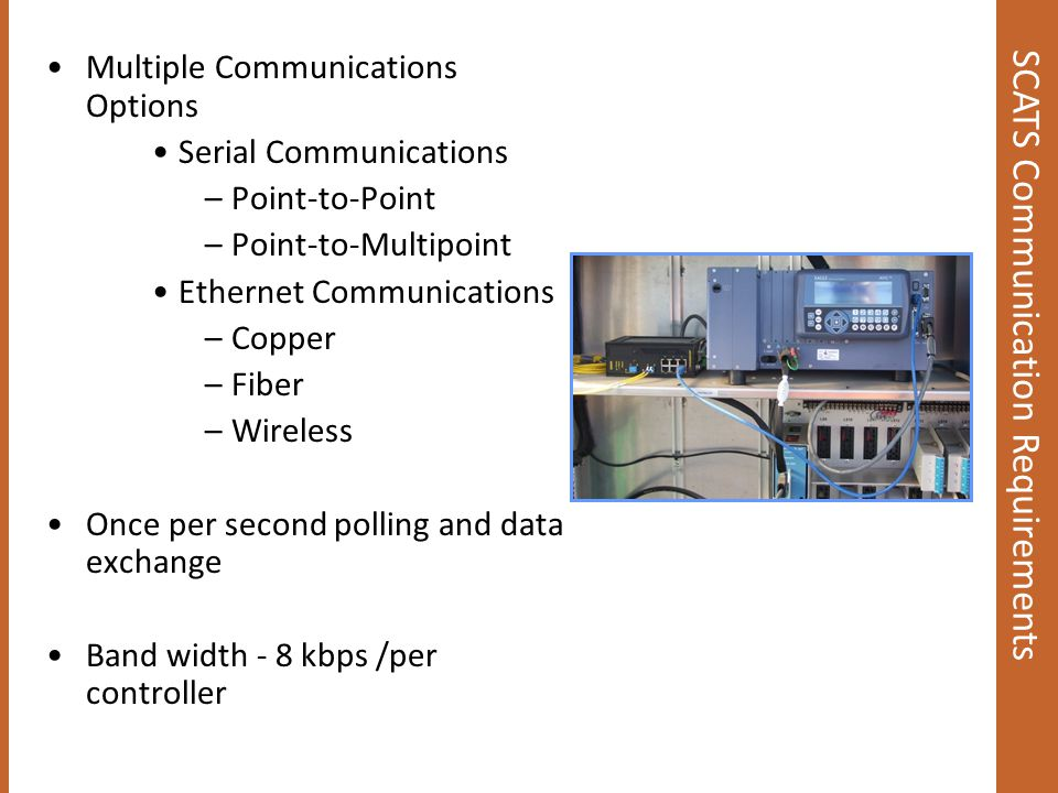 SCATS Communication Requirements