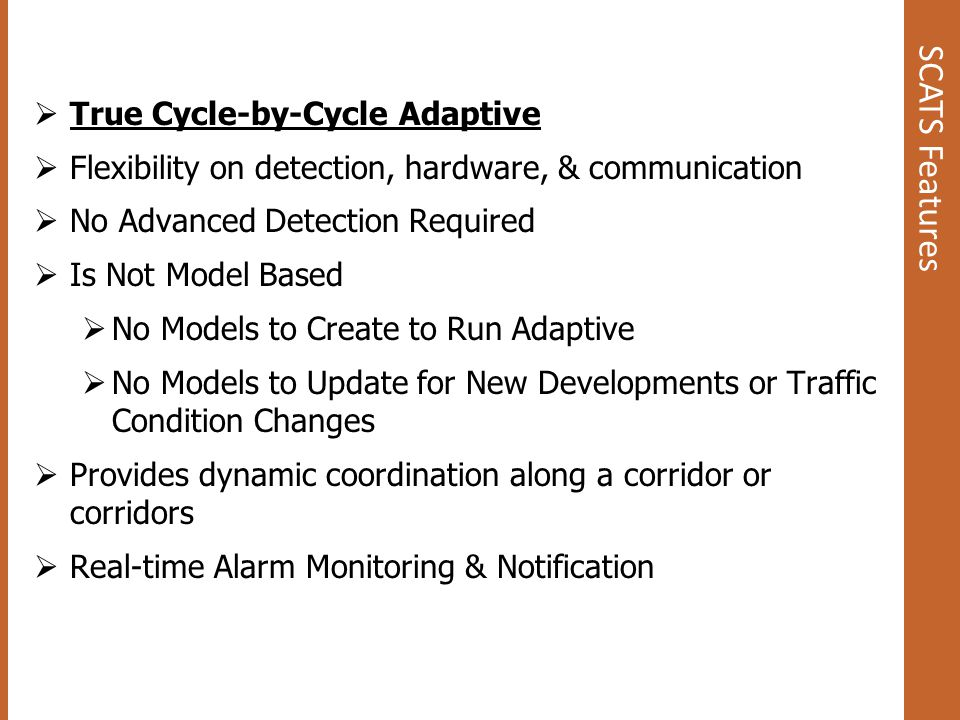 SCATS Features True Cycle-by-Cycle Adaptive
