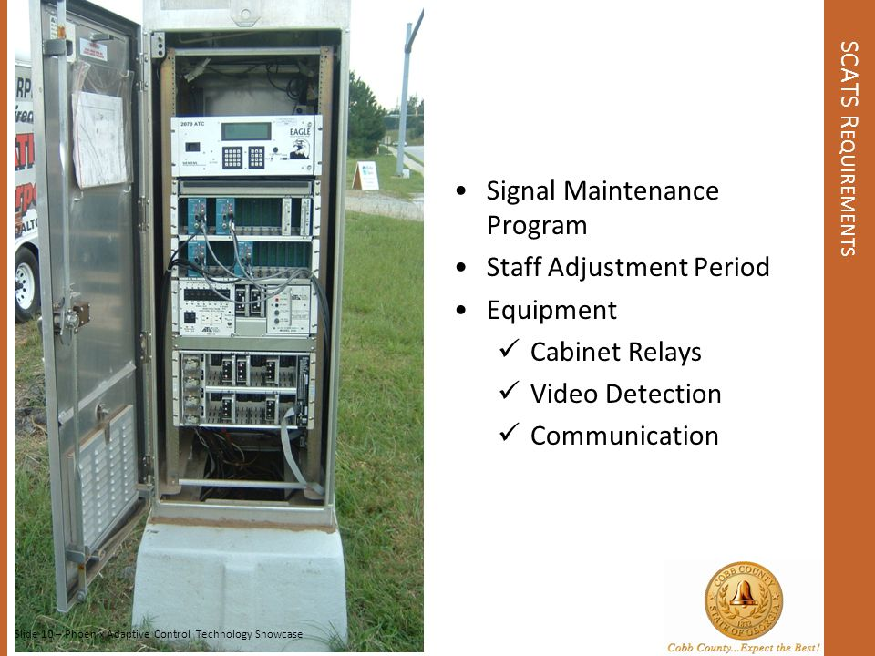 Signal Maintenance Program Staff Adjustment Period Equipment