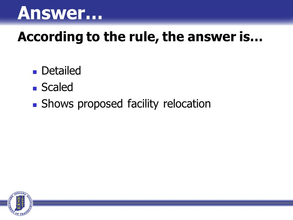 Answer… According to the rule, the answer is… Detailed Scaled