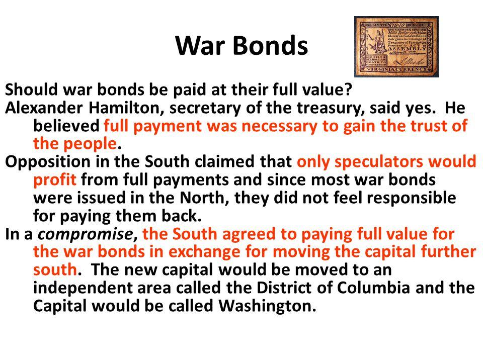 War Bonds Should war bonds be paid at their full value